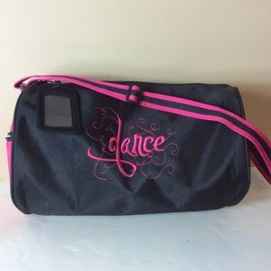 Embroidered Girl's Zippered Dance Carry Bag